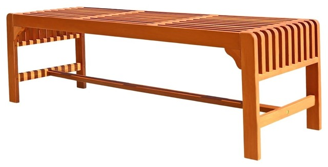 Backless Three Seater Bench.