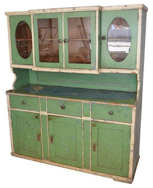 Late 19th Century Storage Cabinet In Green   $3,550 Est. Retail   $1,775 On  Chai