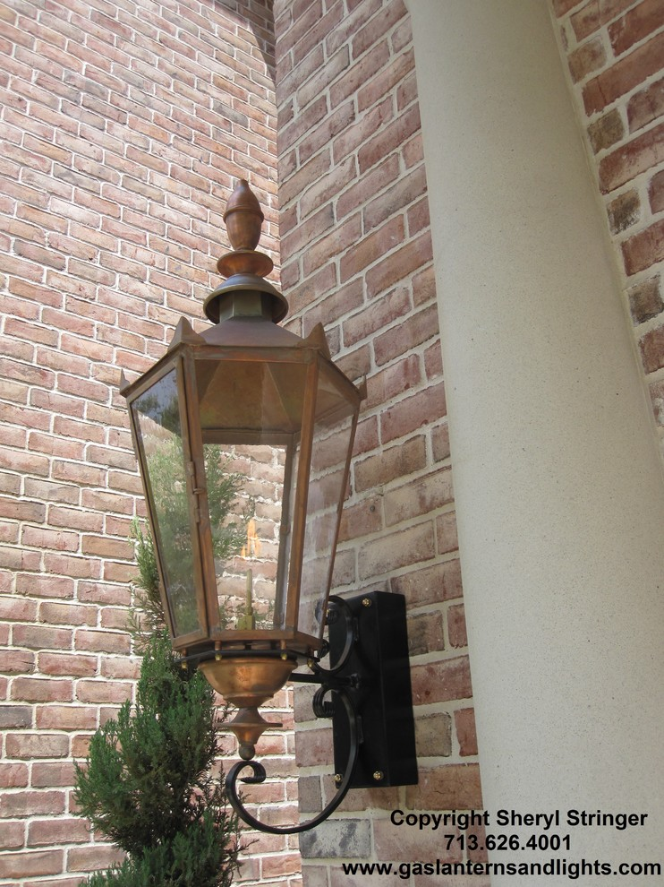 Sheryl's Gothic Gas Lantern with Natural Copper Finish