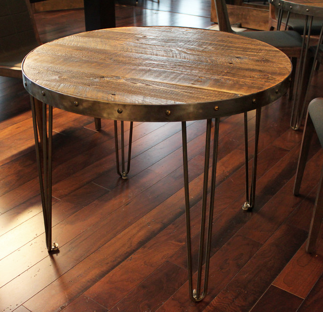 Reclaimed Wood Round Table industrial - Reclaimed Wood Round Table - Industrial - Denver - By JW Atlas