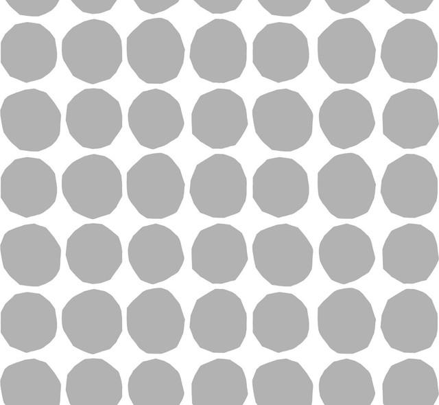 Pienet Kivet Marimekko Wallpaper, Grey and White