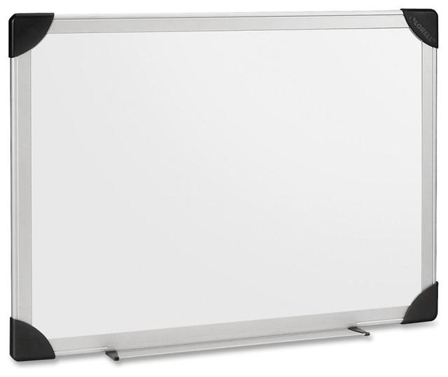 Lorell Aluminum Frame Dry Erase Board, 24 W X 18 H, White Styrene ...