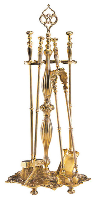Cast Brass Fireplace Tools Traditional Fireplace Tools By