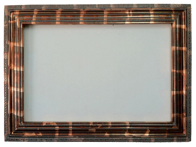 decorative wall frame in gold leaf with dark bronze color 24x36 traditional picture frames