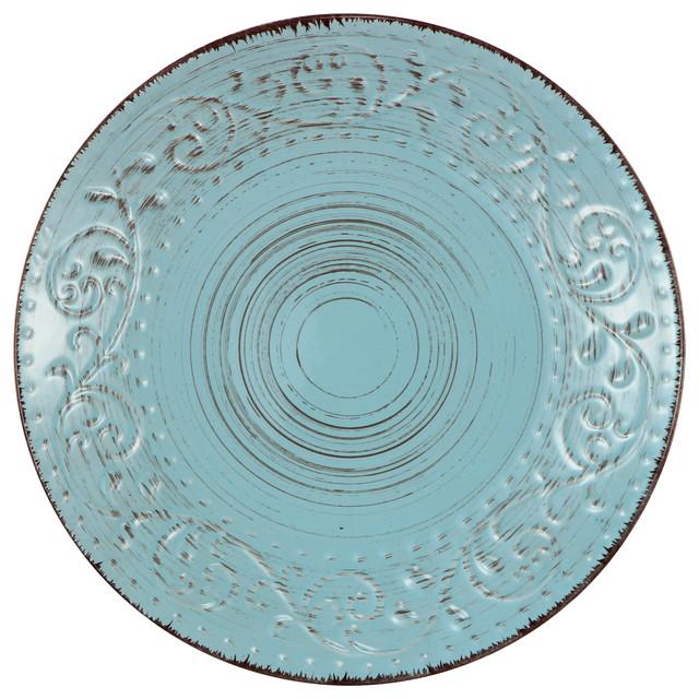 A Amp B Home Rustic Fare Salad Dessert Plate 8 Quot Aqua Blue