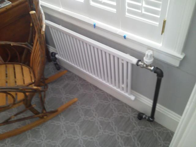 New Steam Radiator System Boston Ma Traditional