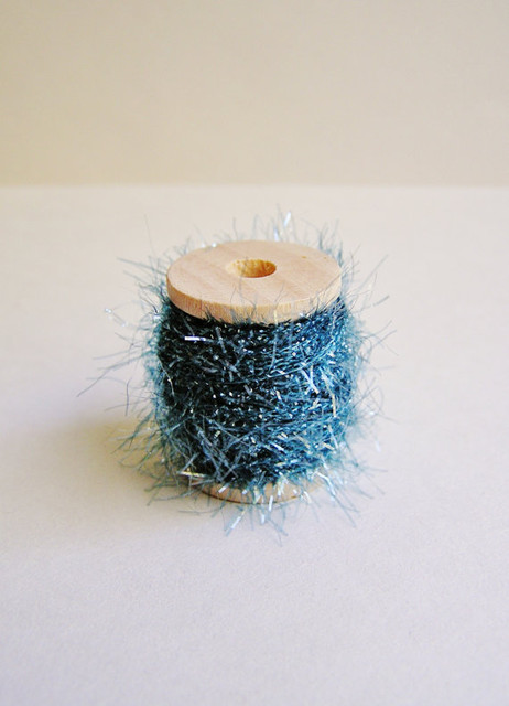 Marine Blue Petite French Tinsel Trim by The Gilded Bee