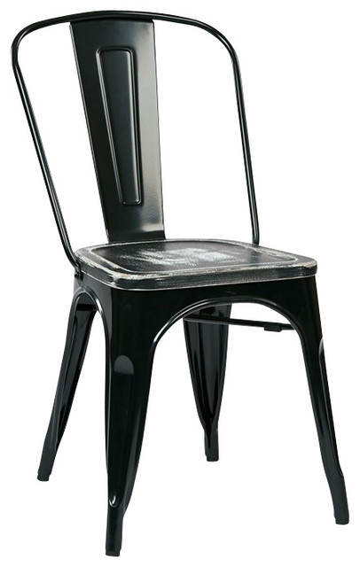 Shop Houzz Office Star Bristow Metal Chair In Black And