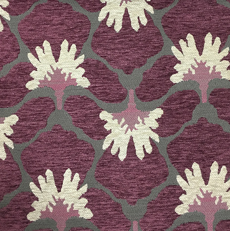 Sydney Upholstery Fabric Available in 8 Colors Amethyst Textured Chenille Modern Paisley Home Decor Upholstery Fabric by the Yard