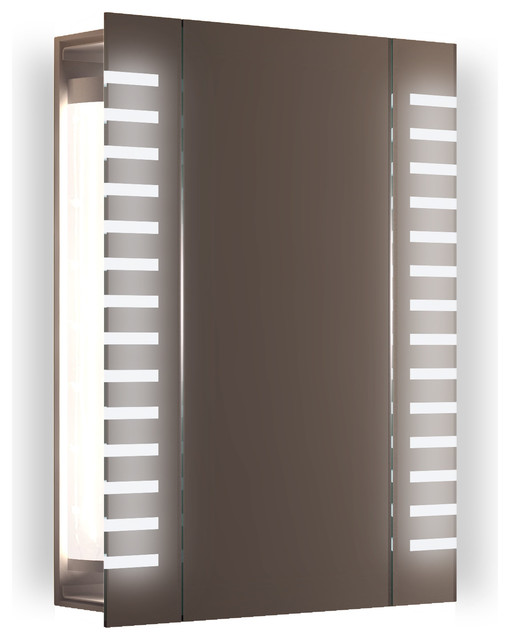 Axis Demisting Medicine Cabinet, Striped Led.