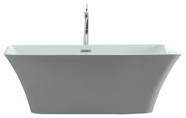 "Serenity 59""x29.52"" Freestanding Soaking Bathtub."