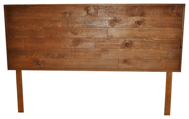 Reclaimed wood bed headboard king size rustic