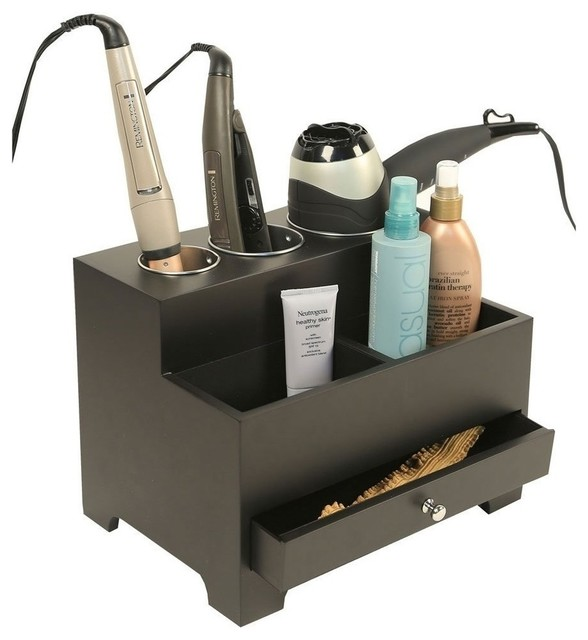 Bathroom storage for hair tools with creative for Bathroom accessories organizer