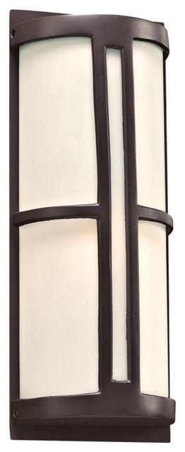 Rox 1-Light Outdoor Fixture, Oil Rubbed Bronze, A19.