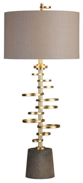 Uttermost Lostine Antiqued Gold Lamp.