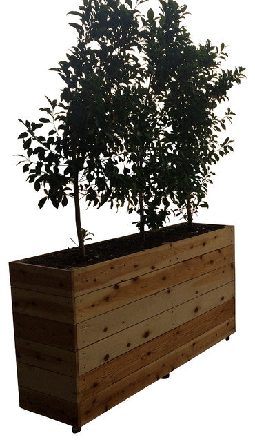 Portable Privacy Living Wall Planter - Farmhouse - Indoor Pots And ...