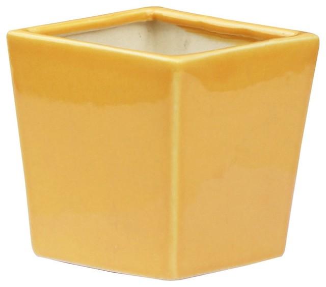 souvnear flower planter pot large yellow ceramic pots garden - Large Ceramic Planters