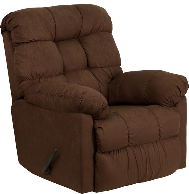 Contemporary Sienna Chocolate Microfiber Rocker Recliner recliner-chairs  sc 1 st  Houzz & Contemporary Sienna Microfiber Rocker Recliner - Recliner Chairs ... islam-shia.org