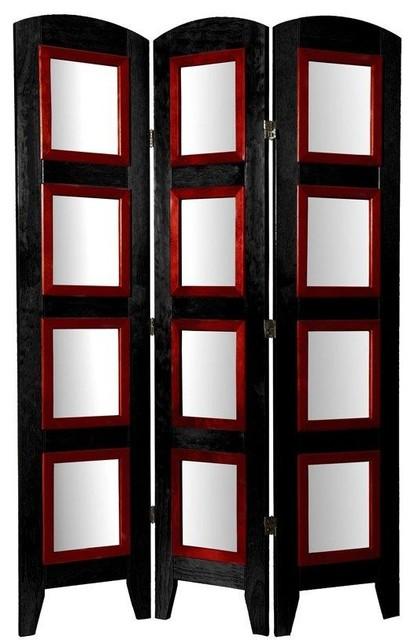 5 1 2 Ft Tall Photo Shoji Screen 3 Panel Black Contemporary