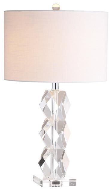 """Sofia 26"""" Crystal Table Lamp, Clear."""