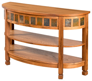 Sunny Designs Sedona Curved Entry Table Tv Console