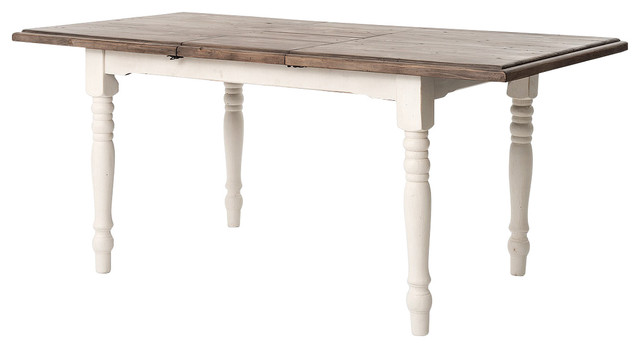 Shop Houzz | Zin Home Extension Dining Table, Cottage White ...