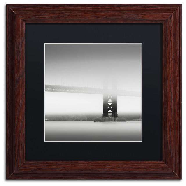 'Golden Gate' Matted Framed Canvas Art by Dave MacVicar