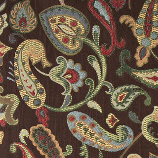 Blue Red Green Yellow Brown Paisley Contemporary