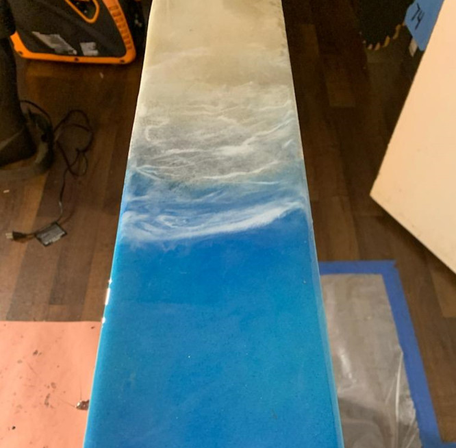 Ocean Art Resin Countertop