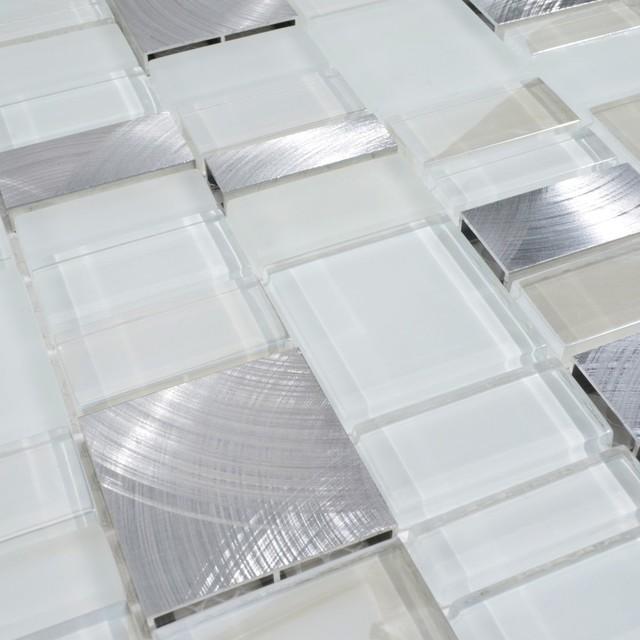 12 X12 Metal Stone Glass Mosaic Kitchen Backsplash Bathroom Tile