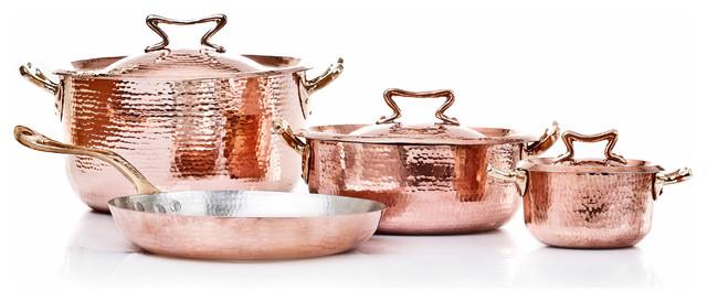 Copper Set 7 Pcs, Tin Lining.