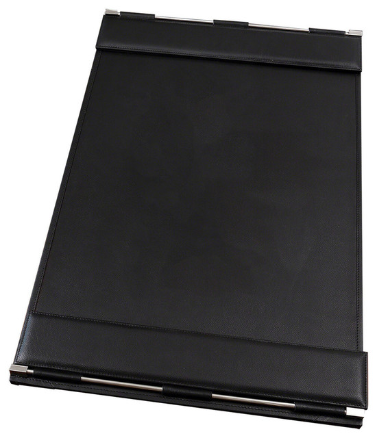 Global Views Flap Desk Blotter Black Contemporary Desk