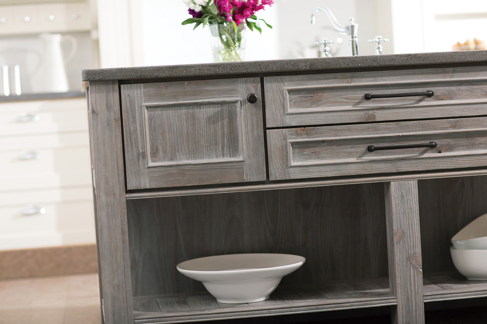 Marley cabinet style in Knotty Alder with Weathered Finish - Dura Supreme Cabine