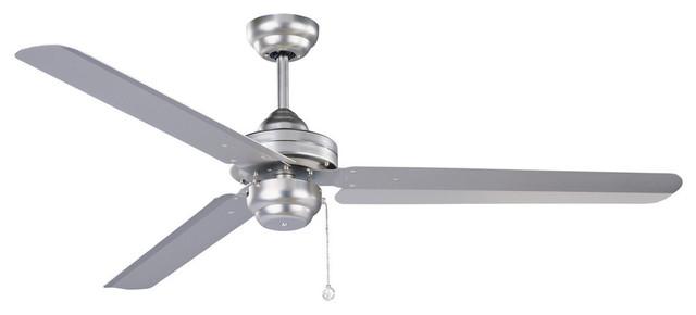 Studio-54 54 Brushed Steel Ceiling Fan.