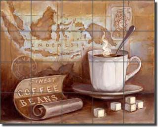 Ceramic Tile Mural Backsplash Kasun Kitchen Coffee