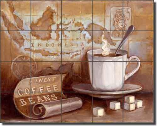 Ceramic Tile Mural Backsplash Kasun Kitchen Coffee Traditional Murals By Artwork On