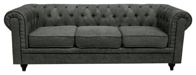 Chesterfield Sofa, Ash Traditional Sofas