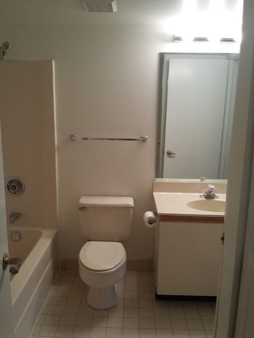 pls help rescue this almond bathroom from the 80 39 s