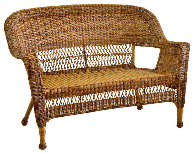 jeco inc patio decorative honey wicker patio love seat loveseats