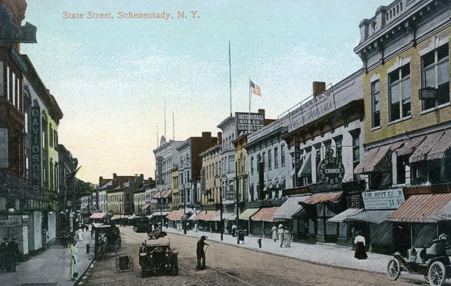 """Schenectady, New York, View Of State Street"" Print"