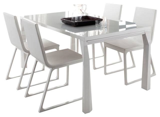 modern extendable dining table Sapphire Prisma Extendable Dining Table   Modern   Dining Tables  modern extendable dining table