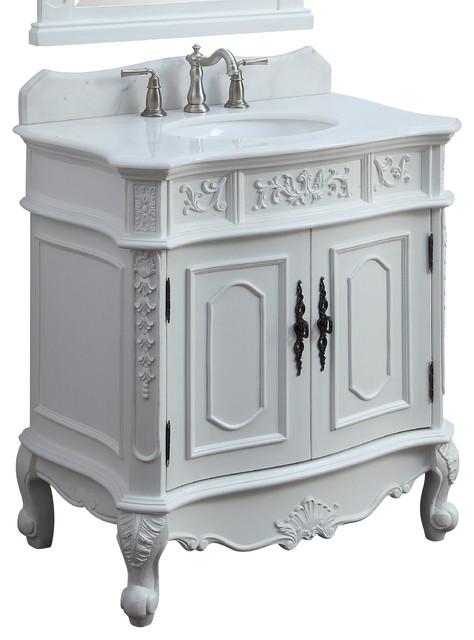 33 Benson White Victorian Bathroom Vanity Victorian Bathroom Vanities And Sink Consoles By Chans Furniture Houzz
