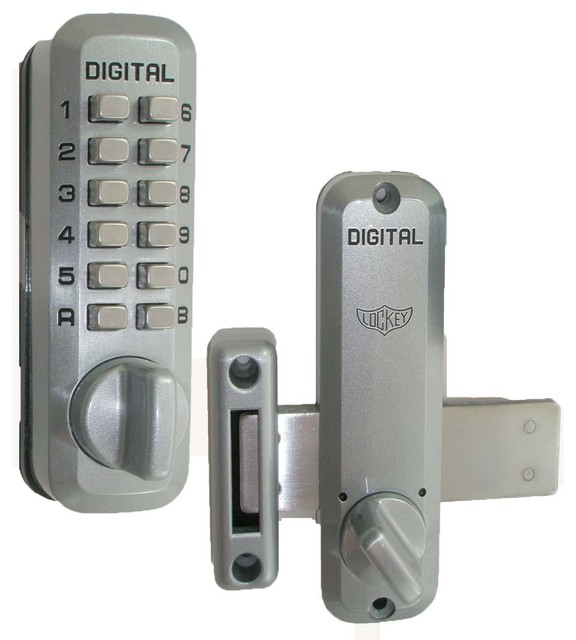Digital Door Lock Surface Mount Deadbolt Antique Br