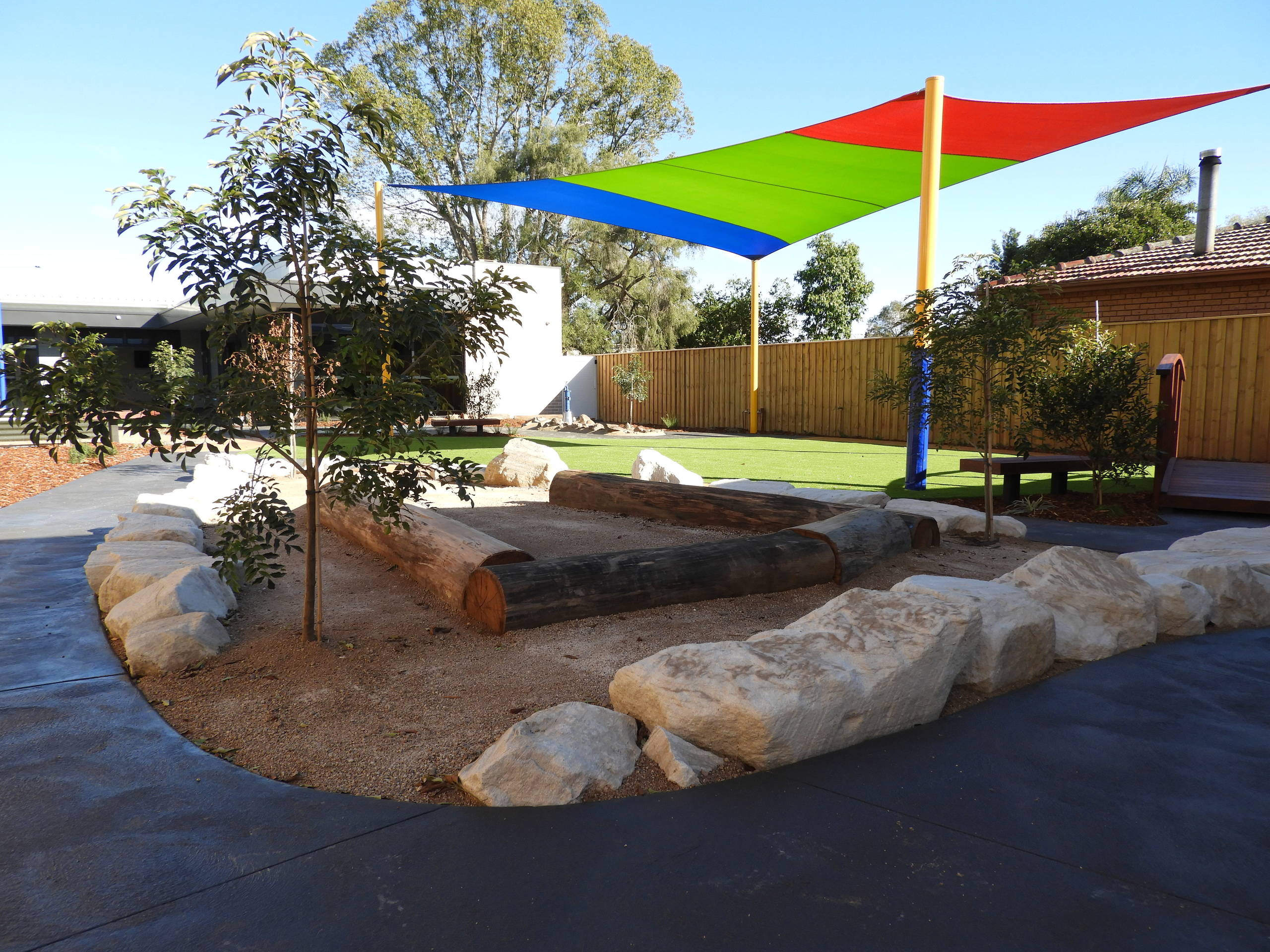 Outdoor play environment - childcare centre