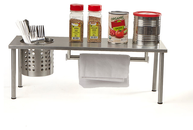 Versatile Kitchen Rack Storage Organizer, Silver.