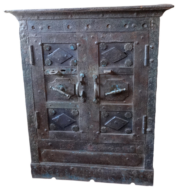 Consigned Vintage, Iron Indian Safe