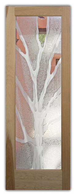 Pantry Door with Glass Branch Out 2D