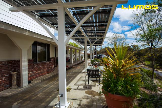 Lumos LSX Solar Patio Covers, Awnings Modern