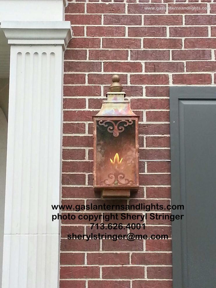 Sheryl's Ornate Gas Lantern with Natural Finish
