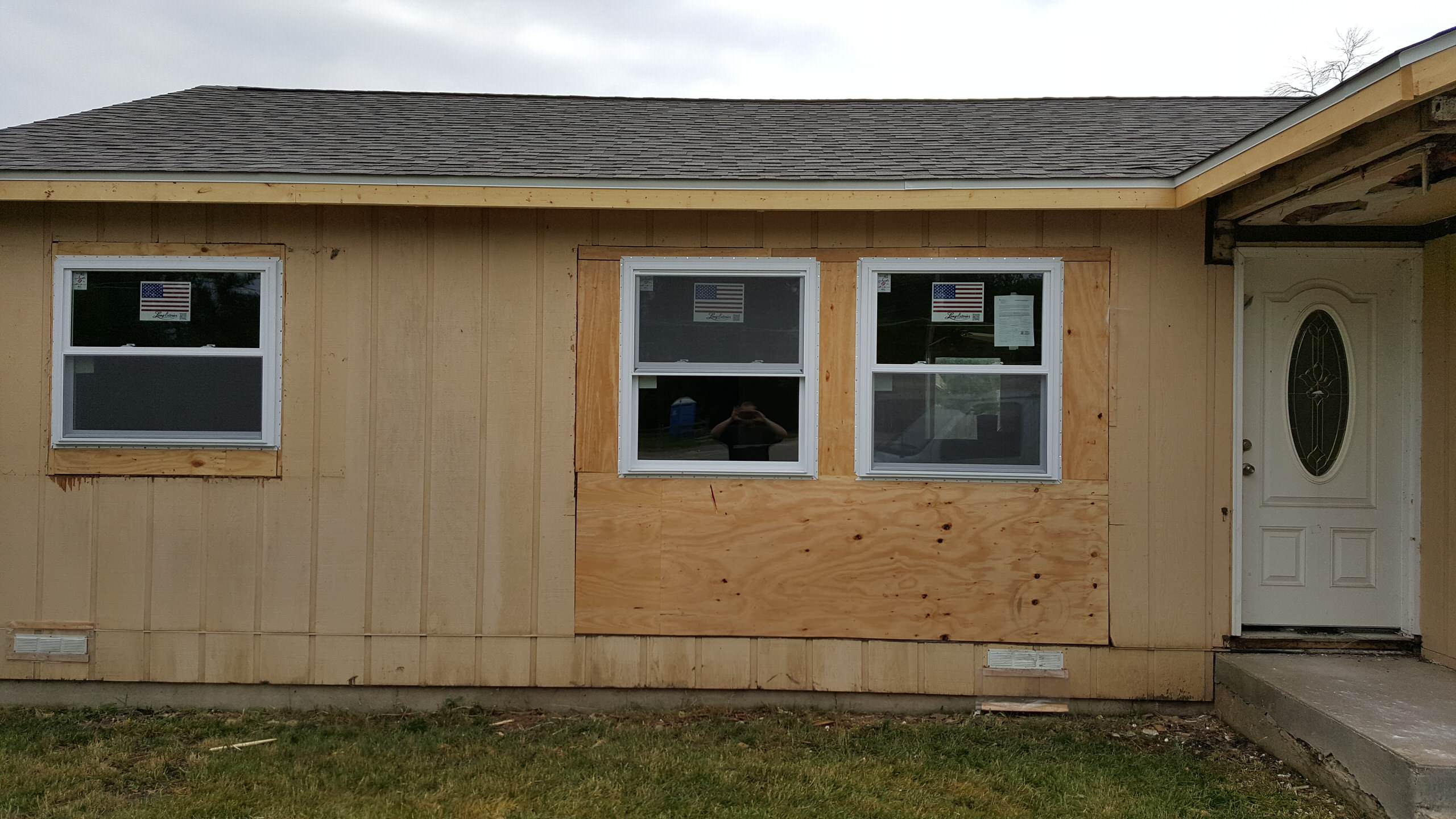 new window sizes, almost ready for siding
